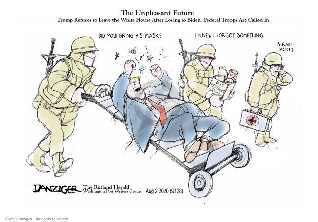 Jeff Danziger  Jeff Danziger's Editorial Cartoons 2020-08-03 Donald Trump