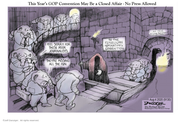 Jeff Danziger  Jeff Danziger's Editorial Cartoons 2020-08-04 republican