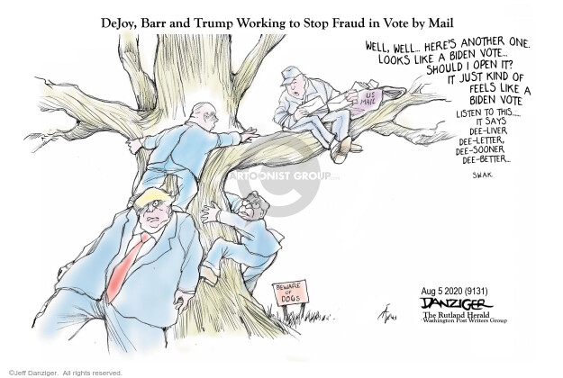 Jeff Danziger  Jeff Danziger's Editorial Cartoons 2020-08-05 Donald Trump