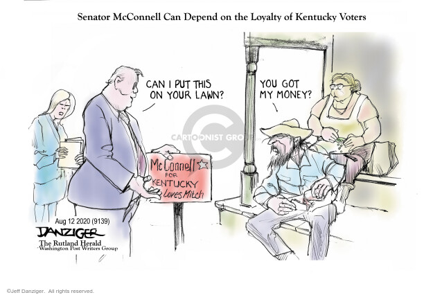Jeff Danziger  Jeff Danziger's Editorial Cartoons 2020-08-14 senate majority leader
