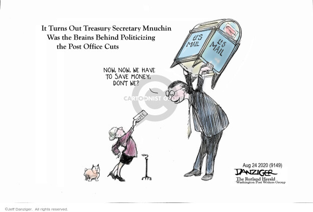 Jeff Danziger  Jeff Danziger's Editorial Cartoons 2020-08-25 Donald