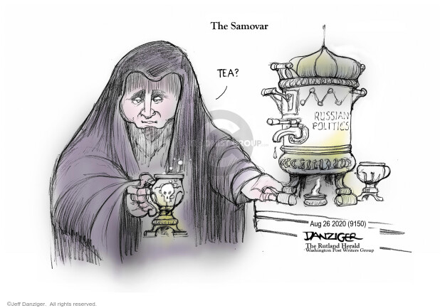 Jeff Danziger  Jeff Danziger's Editorial Cartoons 2020-08-26 Russia