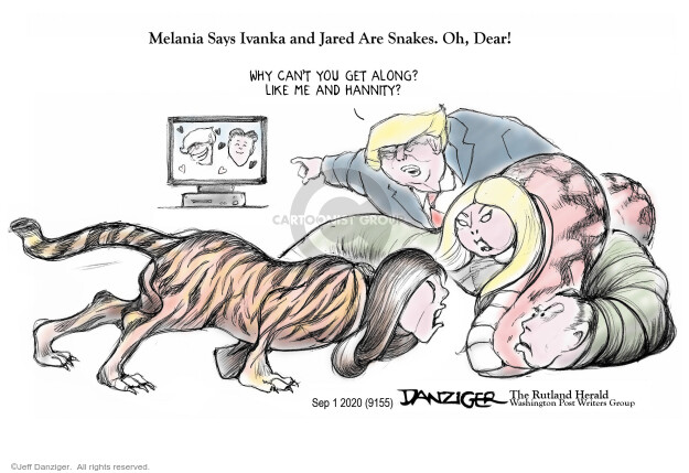 Jeff Danziger  Jeff Danziger's Editorial Cartoons 2020-09-01 Jared Kushner