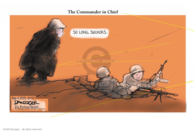 Jeff Danziger  Jeff Danziger's Editorial Cartoons 2020-09-04 Donald Trump
