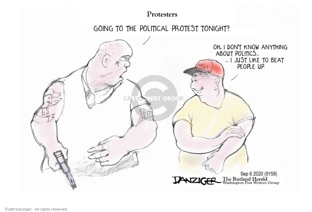 Jeff Danziger  Jeff Danziger's Editorial Cartoons 2020-09-07 editorial