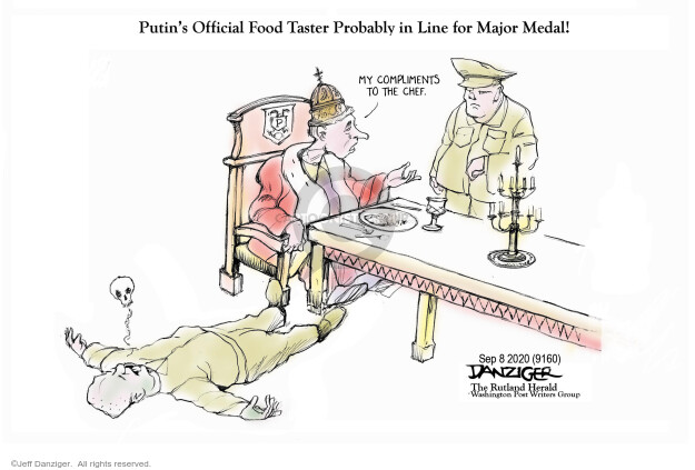 Jeff Danziger  Jeff Danziger's Editorial Cartoons 2020-09-08 Russia