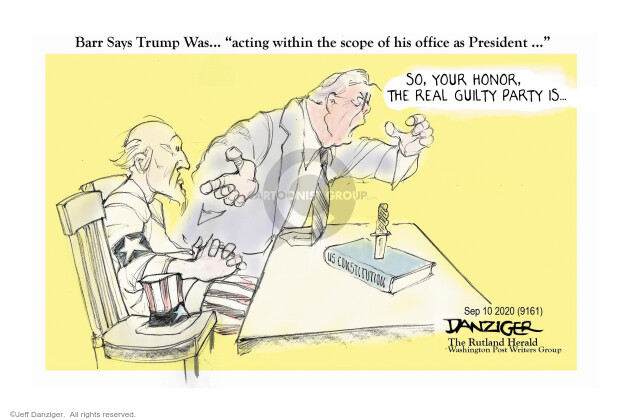 Jeff Danziger  Jeff Danziger's Editorial Cartoons 2020-09-09 Donald Trump Lawyers