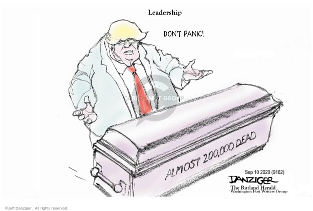 Jeff Danziger  Jeff Danziger's Editorial Cartoons 2020-09-10 editorial