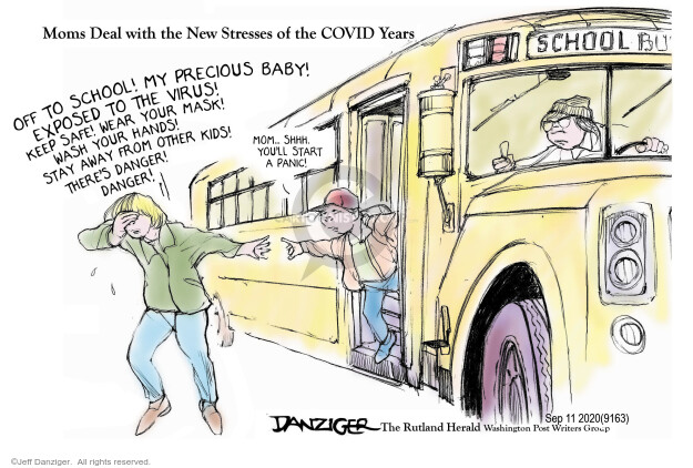 Jeff Danziger  Jeff Danziger's Editorial Cartoons 2020-09-14 coronavirus
