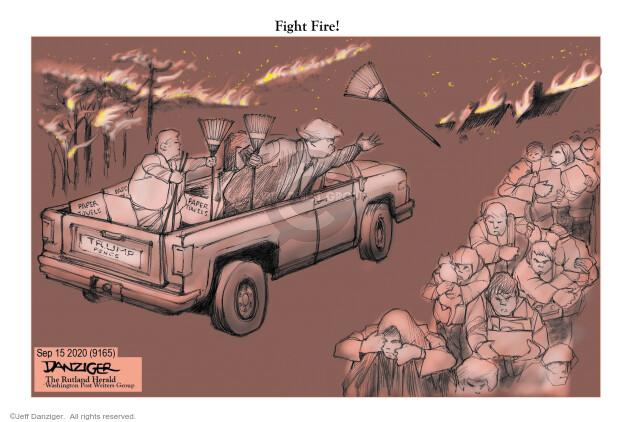 Jeff Danziger  Jeff Danziger's Editorial Cartoons 2020-09-15 Donald Trump and Mike Pence