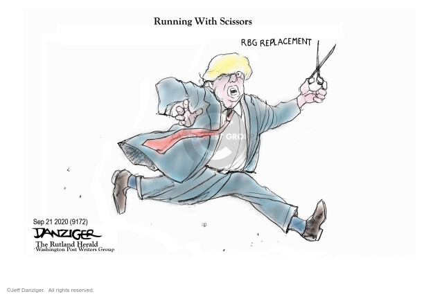 Jeff Danziger  Jeff Danziger's Editorial Cartoons 2020-09-21 Presidency