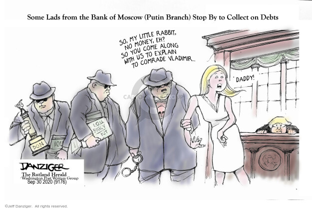 Jeff Danziger  Jeff Danziger's Editorial Cartoons 2020-09-30 Russia