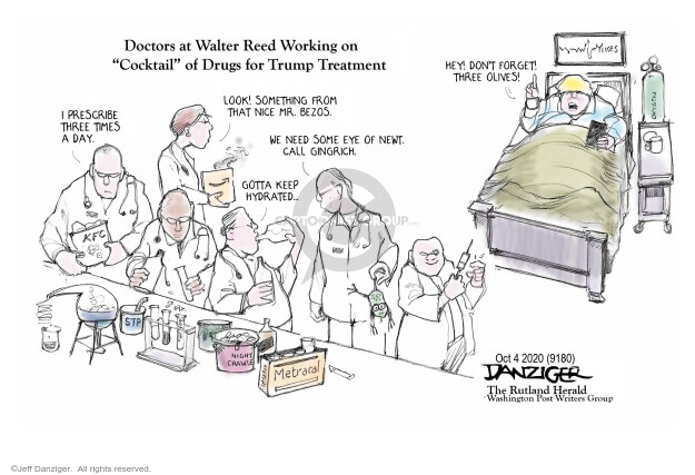 Jeff Danziger  Jeff Danziger's Editorial Cartoons 2020-10-04 coronavirus