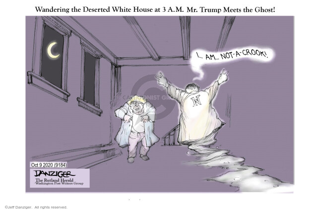 Jeff Danziger  Jeff Danziger's Editorial Cartoons 2020-10-09 Trump administration