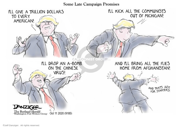 Jeff Danziger  Jeff Danziger's Editorial Cartoons 2020-10-10 Trump administration