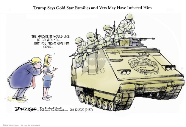 Jeff Danziger  Jeff Danziger's Editorial Cartoons 2020-10-13 Trump administration