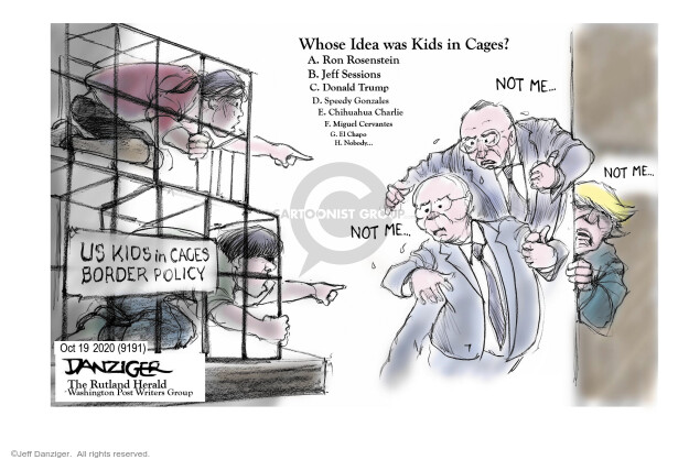 Jeff Danziger  Jeff Danziger's Editorial Cartoons 2020-10-19 Trump administration