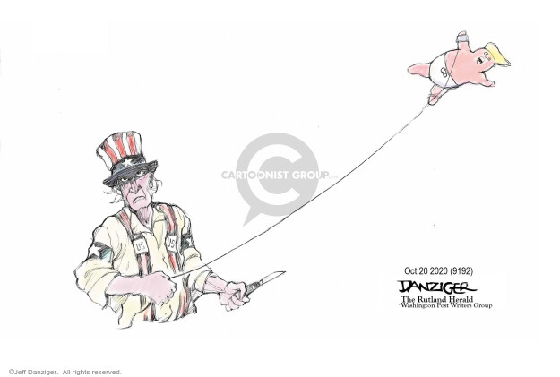Jeff Danziger  Jeff Danziger's Editorial Cartoons 2020-10-21 administration