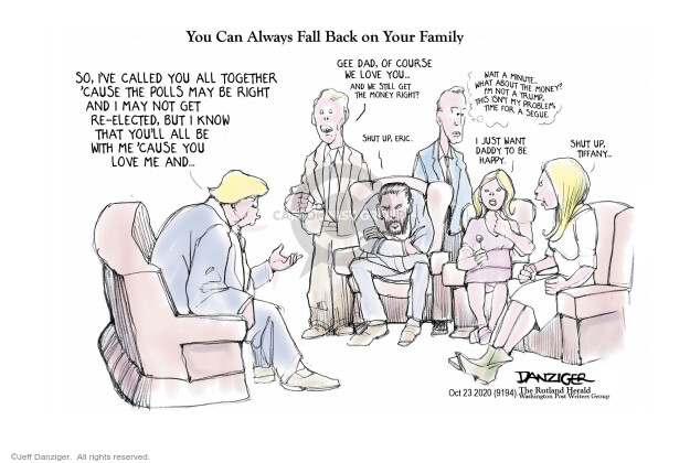 Jeff Danziger  Jeff Danziger's Editorial Cartoons 2020-10-23 Trump administration
