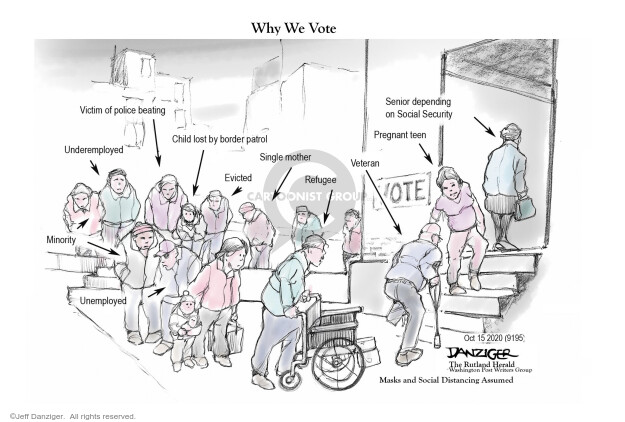Jeff Danziger  Jeff Danziger's Editorial Cartoons 2020-10-25 2020 election