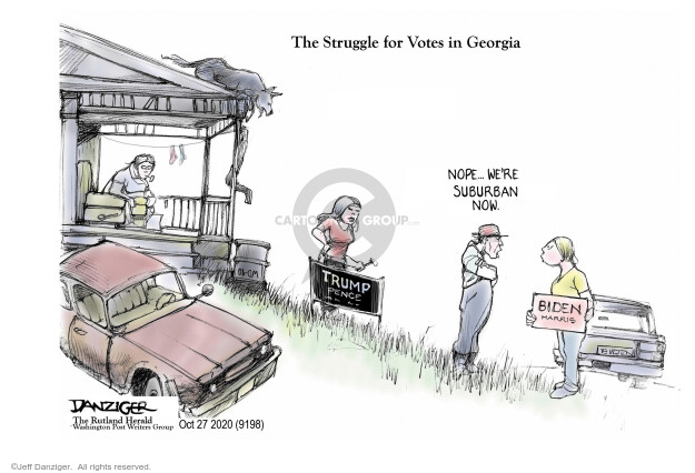 Jeff Danziger  Jeff Danziger's Editorial Cartoons 2020-10-28 2020 election