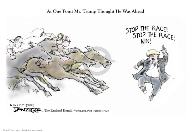 Jeff Danziger  Jeff Danziger's Editorial Cartoons 2020-11-06 2020 election