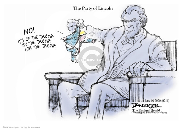 Jeff Danziger  Jeff Danziger's Editorial Cartoons 2020-11-11 republican party