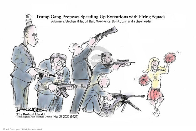 Jeff Danziger  Jeff Danziger's Editorial Cartoons 2020-11-27 leader