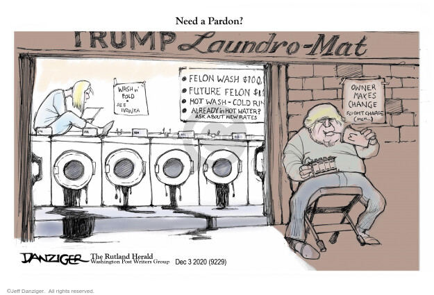 Jeff Danziger  Jeff Danziger's Editorial Cartoons 2020-12-05 Trump administration