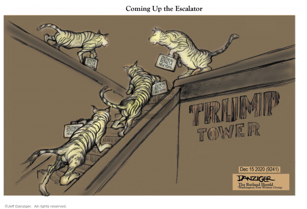 Jeff Danziger  Jeff Danziger's Editorial Cartoons 2020-12-15 2016 Election Donald Trump