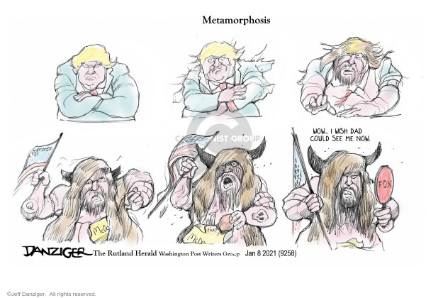 Jeff Danziger  Jeff Danziger's Editorial Cartoons 2021-01-08 Presidency