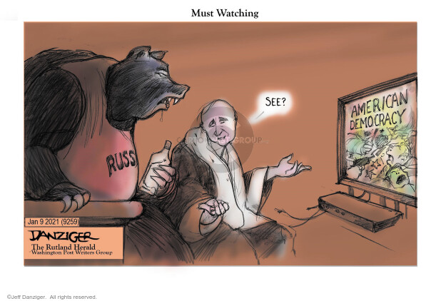 Jeff Danziger  Jeff Danziger's Editorial Cartoons 2021-01-09 Presidency