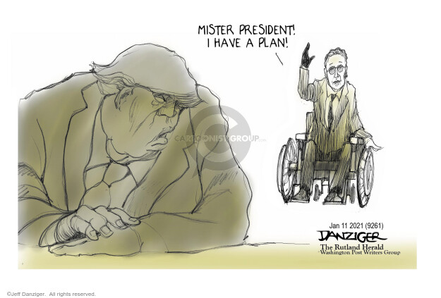 Jeff Danziger  Jeff Danziger's Editorial Cartoons 2021-01-12 presidential administration