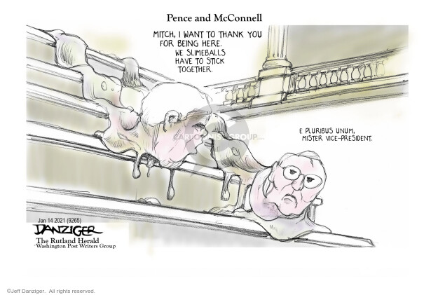 Jeff Danziger  Jeff Danziger's Editorial Cartoons 2021-01-15 majority leader