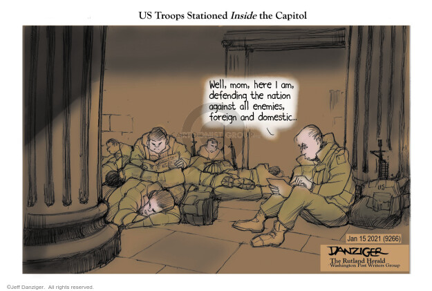 Jeff Danziger  Jeff Danziger's Editorial Cartoons 2021-01-16 legislative branch