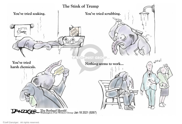 Jeff Danziger  Jeff Danziger's Editorial Cartoons 2021-01-18 presidential administration