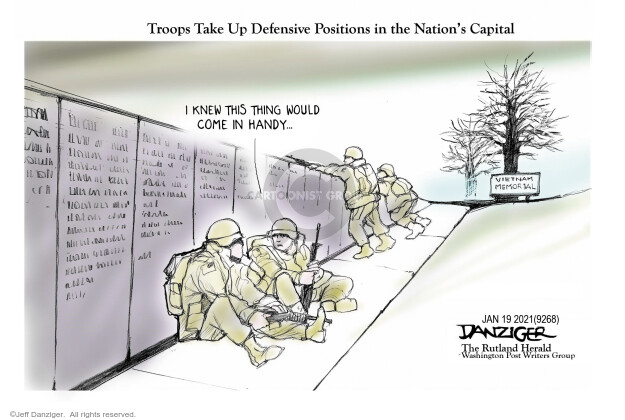 Jeff Danziger  Jeff Danziger's Editorial Cartoons 2021-01-19 presidential