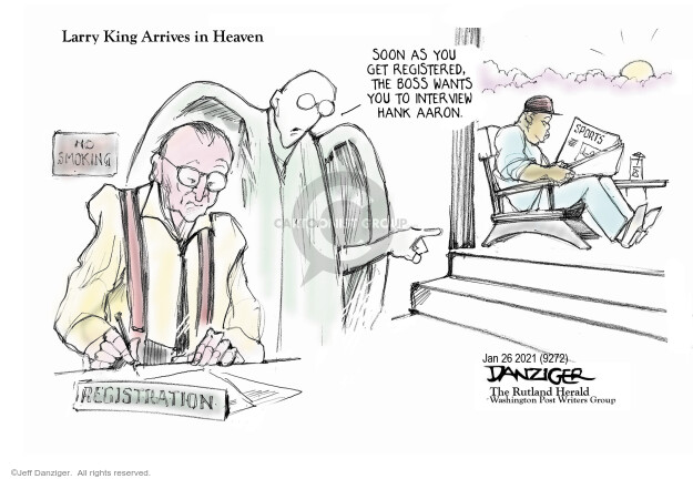 Jeff Danziger  Jeff Danziger's Editorial Cartoons 2021-01-25 journalism