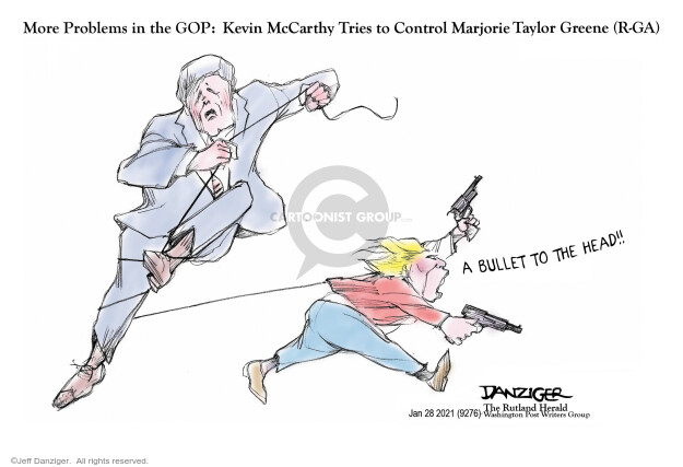 Jeff Danziger  Jeff Danziger's Editorial Cartoons 2021-01-29 legislative