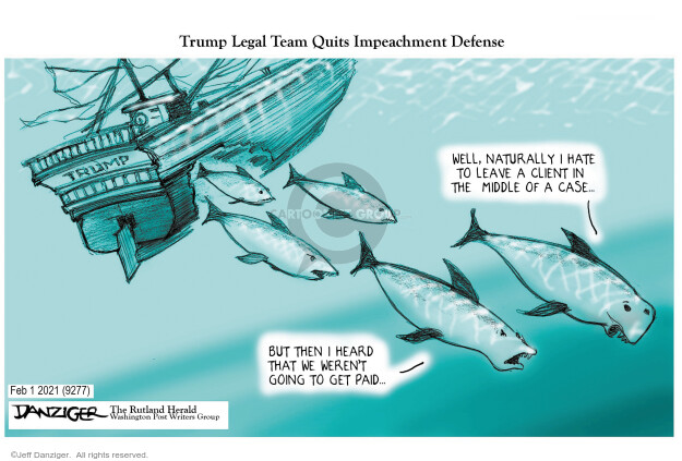 Jeff Danziger  Jeff Danziger's Editorial Cartoons 2021-02-01 mob