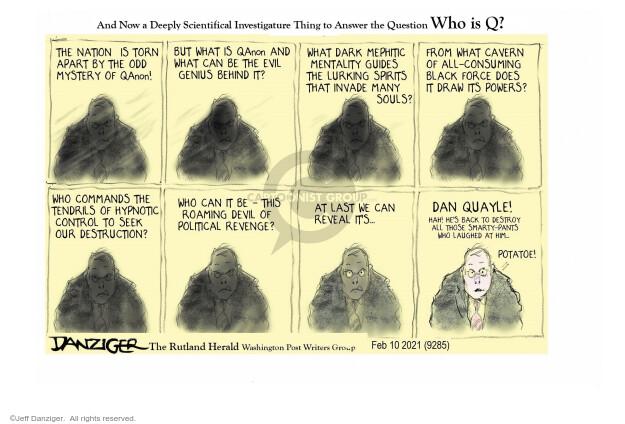 Jeff Danziger  Jeff Danziger's Editorial Cartoons 2021-02-10 president