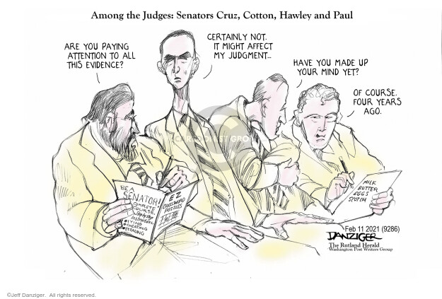 Jeff Danziger  Jeff Danziger's Editorial Cartoons 2021-02-11 legislative