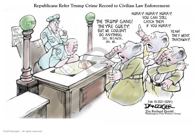 Jeff Danziger  Jeff Danziger's Editorial Cartoons 2021-02-18 legislative