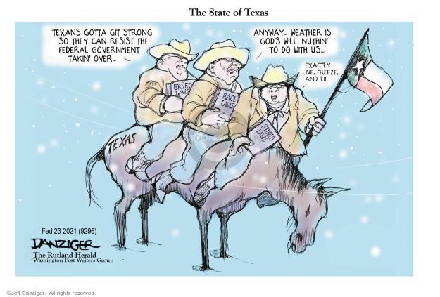 Jeff Danziger  Jeff Danziger's Editorial Cartoons 2021-02-23 nothing