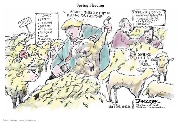 Jeff Danziger  Jeff Danziger's Editorial Cartoons 2021-03-01 Donald Trump