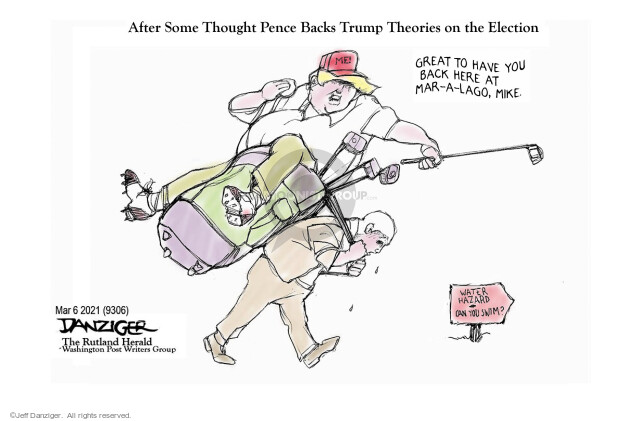 Jeff Danziger  Jeff Danziger's Editorial Cartoons 2021-03-05 2020 election Donald Trump
