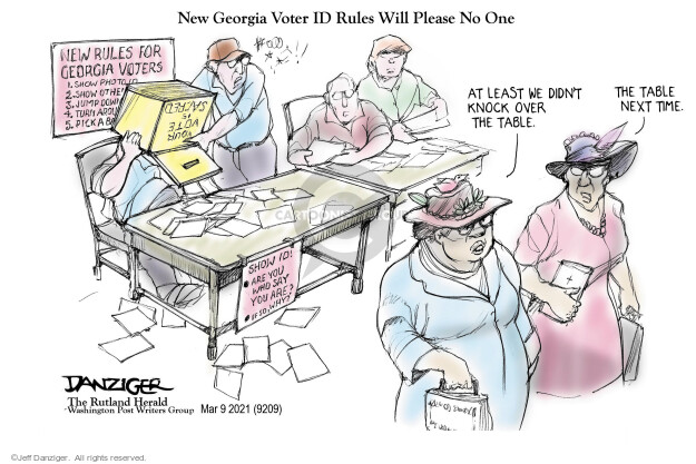 Jeff Danziger  Jeff Danziger's Editorial Cartoons 2021-03-09 vote