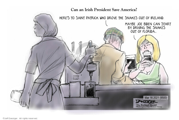 Jeff Danziger  Jeff Danziger's Editorial Cartoons 2021-03-15 presidential leadership