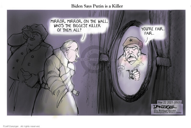 Jeff Danziger  Jeff Danziger's Editorial Cartoons 2021-03-23 American president