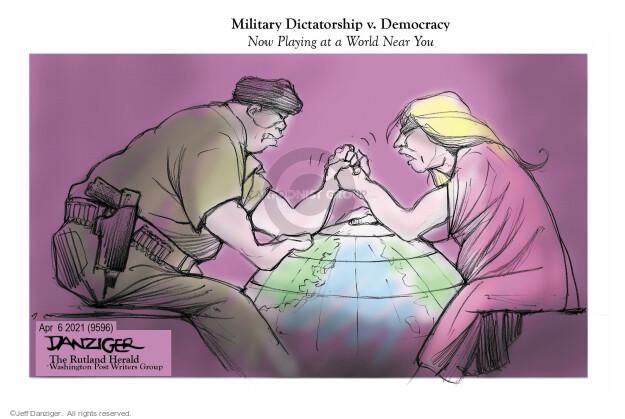 Jeff Danziger  Jeff Danziger's Editorial Cartoons 2021-04-07 military